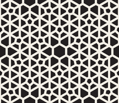 tessellation structure: Vector Seamless Black and White Lace Pattern. Abstract Geometric Background Design