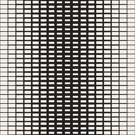Rectangle Transition Halftone Grid. Abstract Geometric Background Design. Vector Seamless Black and White Pattern.