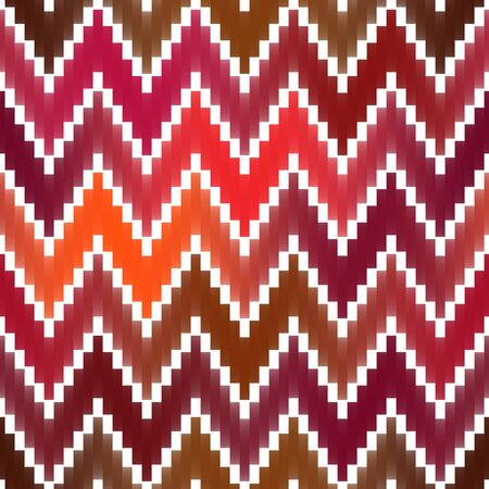 ZigZag Lines Gradient Tiling. Abstract Geometric Background Design. Seamless Multicolor Pattern.