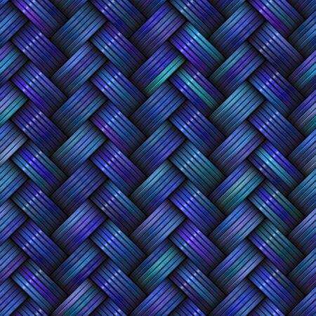 basketry: Twill Weave Texture. Seamless Multicolor Pattern.