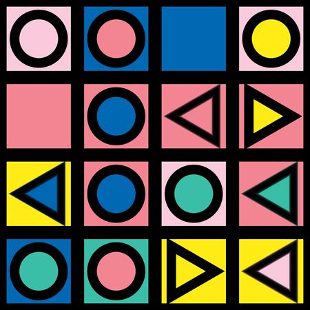 Colorful bold bright seamless pattern Stock Photo