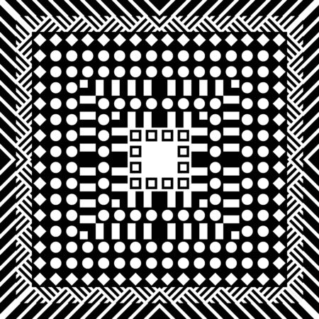 pattern: Abstract geometric seamless pattern in 80 90 style Stock Photo