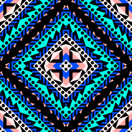 Abstract geometric seamless pattern in 80 90 style Stock Photo