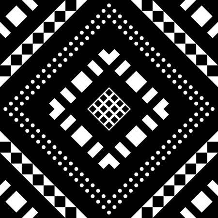 oriental rug: Ethnic Tribal Aztec Seamless Pattern. Geometric Ornamental illustration. Decorative Stylish Texture