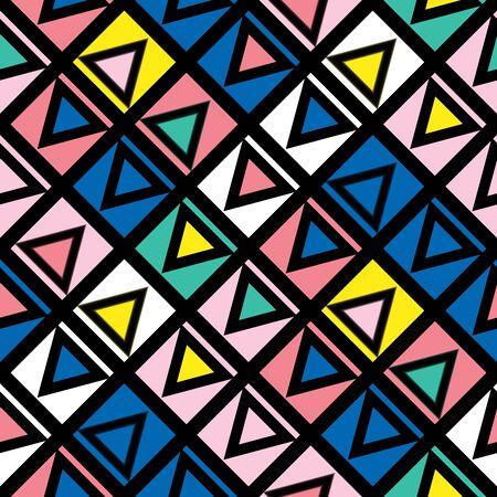 tiling: Decorative geometric shapes tiling. Multicolor trendy irregular pattern.  Abstract colorful background. Artistic decorative ornamental lattice