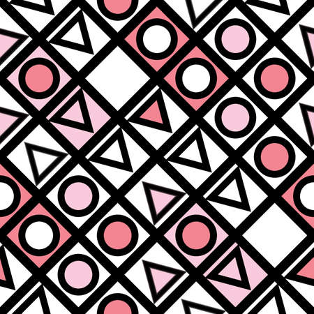 tiling: Decorative geometric shapes tiling. Monochrome trendy irregular pattern.  Abstract  background. Artistic decorative ornamental lattice