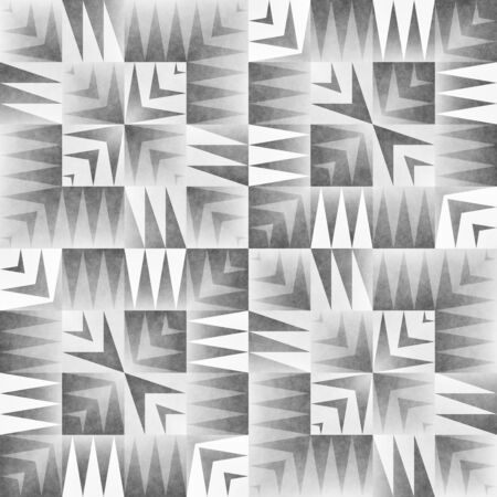 grey rug: Monochrome Tribal Seamless Pattern. Aztec Style Abstract Geometric Art Print. Ethnic Textured Background.