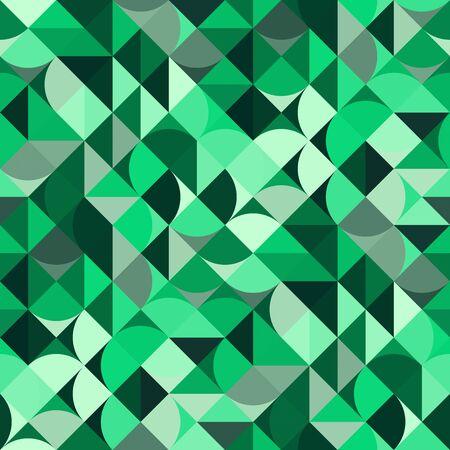 Decorative geometric shapes seamless pattern Stock Photo