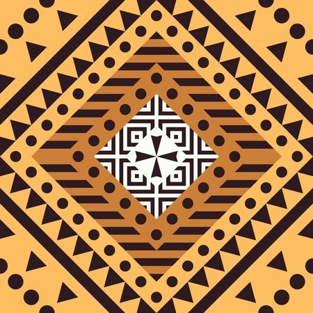 Ethnic Tribal Seamless Pattern. Geometric Ornamental illustration. Decorative Stylish Texture Stock Photo