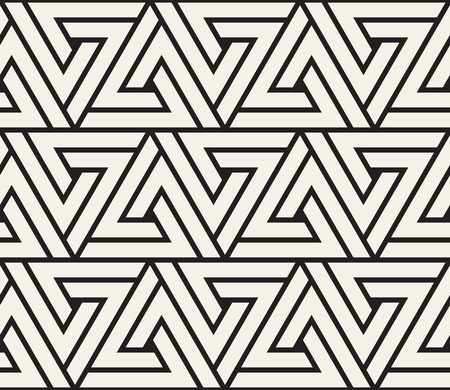 Vector seamless pattern. Modern stylish abstract texture. Repeating geometric tile from striped elements.