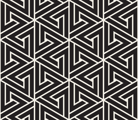 Modern stylish abstract texture. Repeating geometric tile from striped elements