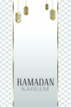 Vector banner, vintage lanterns for Ramadan wishing eastern style.