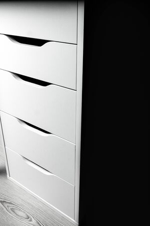 Modern wooden office chest of drawers. Sample Furniture Workplace Interior element
