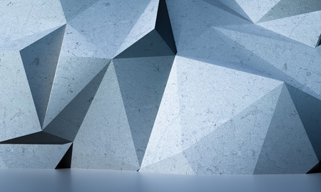Abstract textured modern white polygon wall background