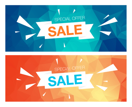 special event: Super Sale Special Offer web banner template on yellow background