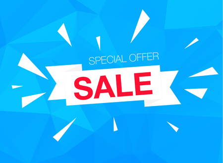 cian: Super Sale Special Offer web banner template on blue background Illustration