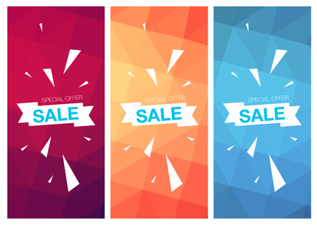 the offer: Super Sale Special Offer web banner templates on colored background