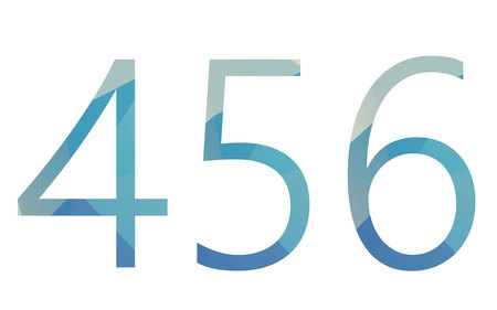 numbers: Polygonal isolated light gradient numbers on white Illustration