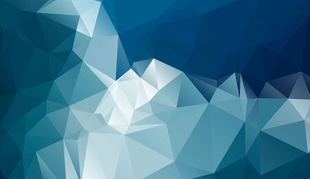 cold background: Cold polygonal horizontal modern background with gradient