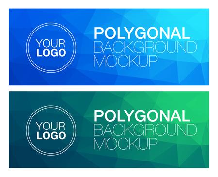 Horizontal colorées vibrantes modernes bannière polygonale maquettes Vecteurs
