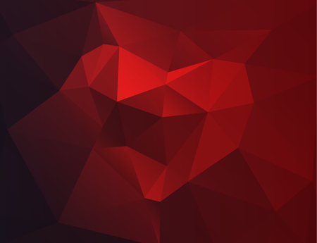 Polygonal modern horizontal colorful background with heart Stock Photo