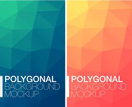 contrast: Colorful vertical polygonal banners with on white