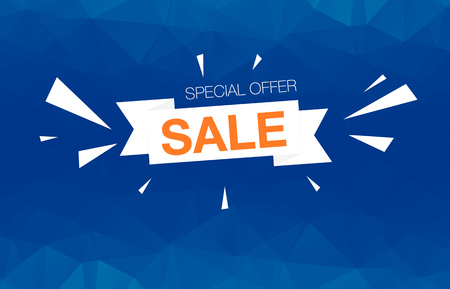 Super Sale Special Offer web banner template on colored background Illustration