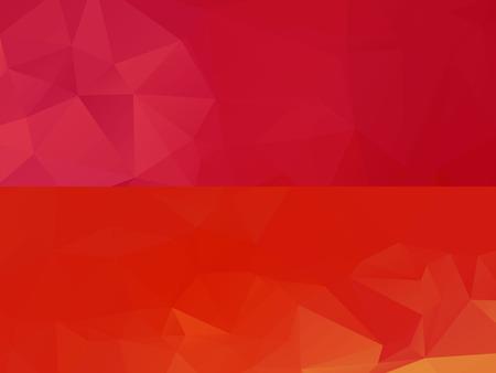 colorful slide: Horizontal colorful vibrant modern polygonal banner mock ups