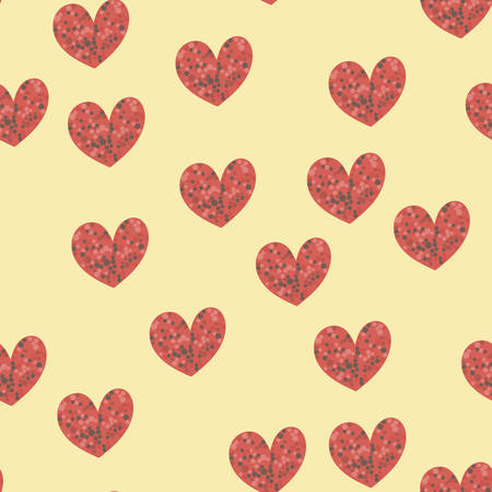 Seamless pattern with hearts for Valentine s day. Vector.