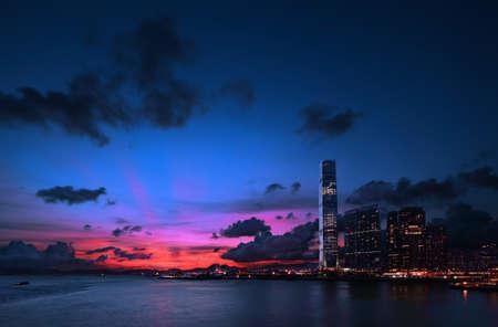 cloud scape: Tsim Sha Tsui Victoria Harbour Kowloon Hong Kong
