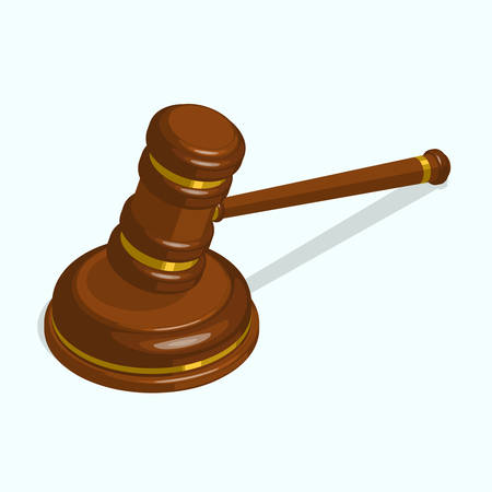 judge gavel: Wooden glossy judge gavel. isometric vector illustration