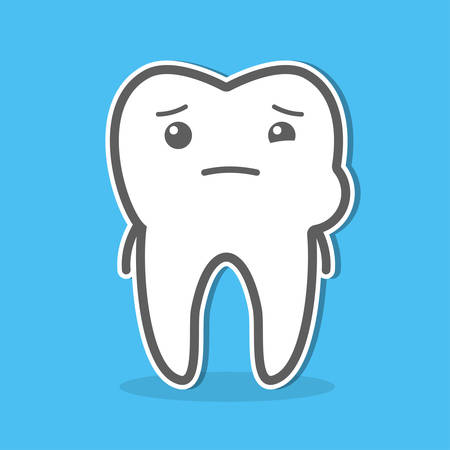 edema: Tooth and toothache concept. Dental vector illustration Illustration
