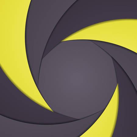 Abstract background like shutter aperture. Vector illustration