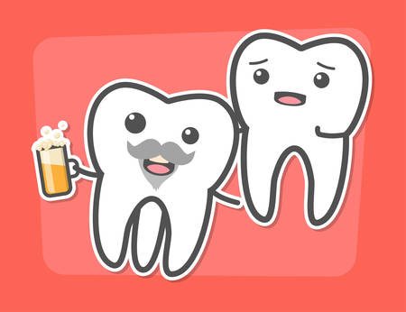 toothache: Wisdom tooth causes pain concept. Toothache. Dental vector illustration