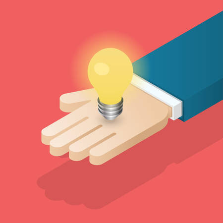 Suggest an idea business concept. Isometric vector illustration. Illustration