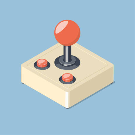 Video Game Controller Symbol Isometric Vector Illustration Royalty