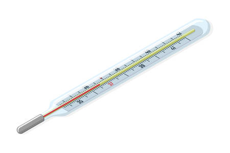 Medical thermometer. Illustration