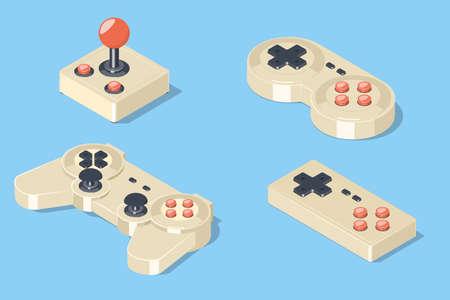 old pc: Gamepad and joystick set.