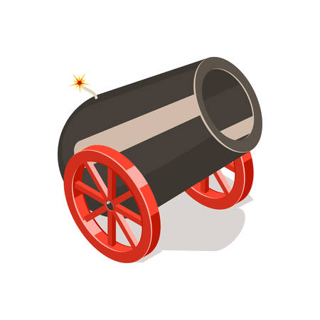 Cannon isolated on white background. Illustration