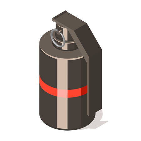 Hand grenade icon isolated on white background. Illustration