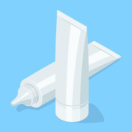 Medical cream gel tube. Illustration