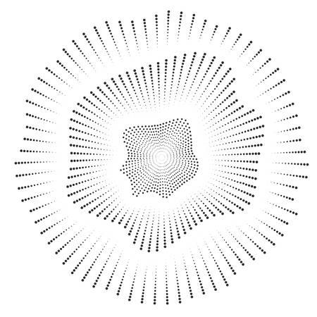 Digital sound equalizer with black dots on white background. Vector illustration