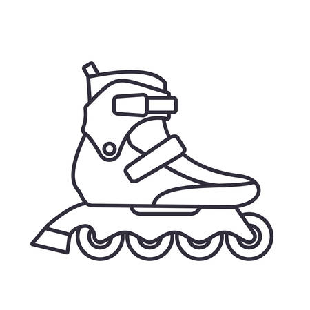 Fitness Inline Roller Skates icon isolated on white background.