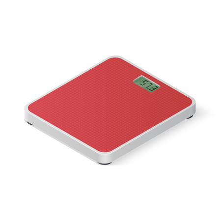Digital floor scales isolated on white background. Isometric vector illustration
