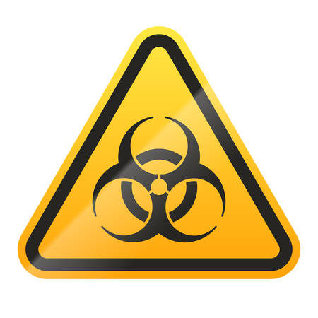 Danger biohazard sign isolated on white background. Vector illustration