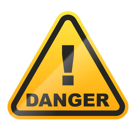 Danger sign isolated on white background. Vector illustration Stock Illustratie