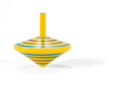 Wooden and colorful spinning top