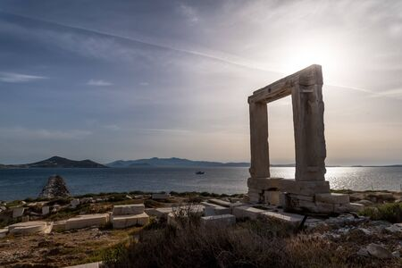Picture with powerful color of Lygdamis, tyrant of Naxos, island in the Cyclades archipelago, Greece - Image
