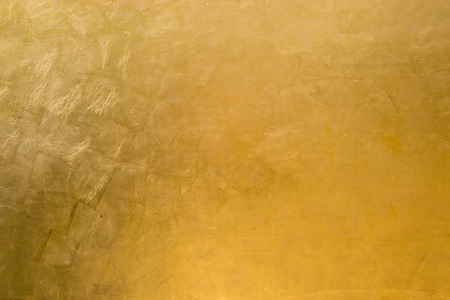 gilding: Wall covered with golden sheets Stock Photo
