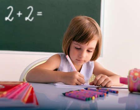 新しい学年の教室 - で書く瞳孔